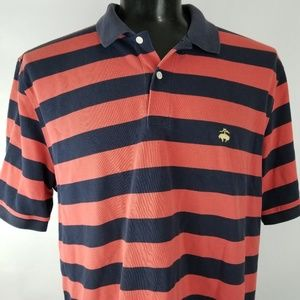 Brooks Brothers Mens 2XL Polo Shirt Striped